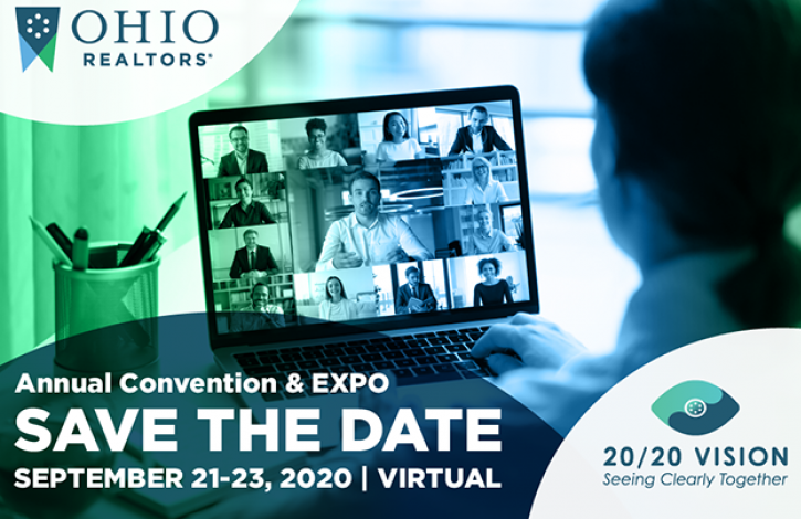 Ohio REALTORS 2020 Convention will be offered exclusively as a virtual event!