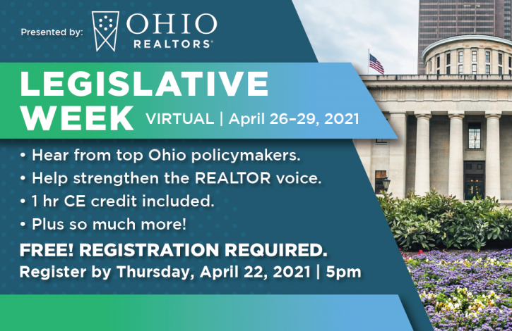 Make your voice heard...Register for Ohio REALTORS Legislative Week!