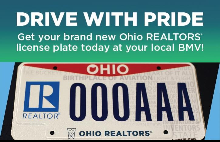 Get your brand new Ohio REALTORS license plate today at your local BMV!