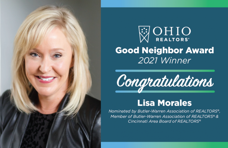 Lisa Morales selected as Ohio REALTORS 2021 Good Neighbor honoree