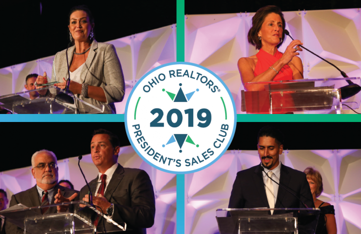 Ohio REALTORS honors its 2019 President's Sales Club 'Top 5' recipients