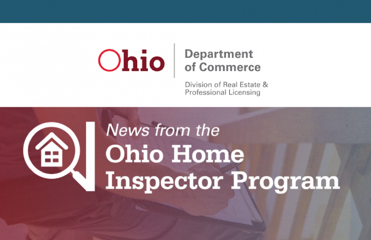 License applications available for Ohio's home inspectors program