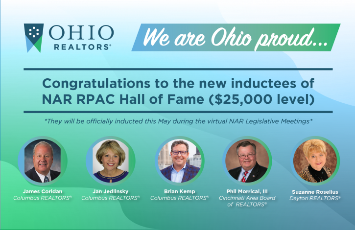 Five Ohio REALTORS to be inducted into NAR's RPAC Hall of Fame