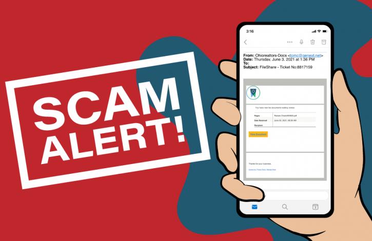 Scam email again targets Ohio REALTORS!