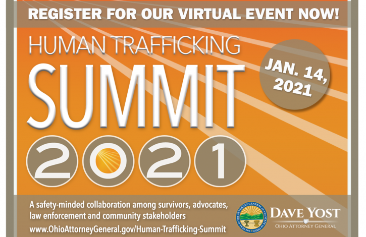 Register Now for The Ohio Attorney General's 2021 Human Trafficking Summit