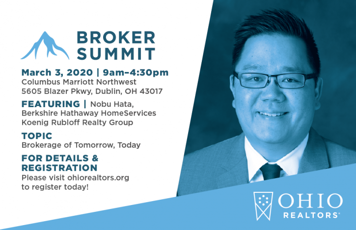 ACT NOW... Limited seats available for next week's Ohio REALTORS Broker Summit