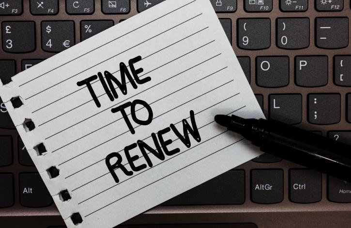 License renewal extension expiring soon