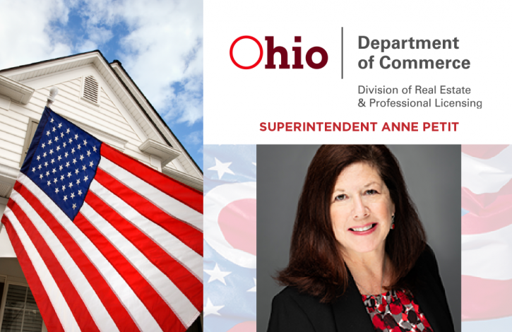 An important message to Ohio real estate licensees from Superintendent Petit